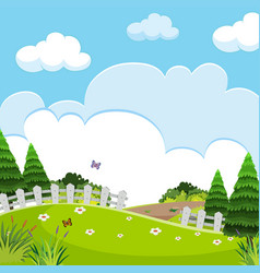 A beautiful nature landscape vector