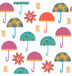 abstract colorful umbrella seamless pattern it vector image