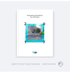 Abstract cover design template for annual report vector image