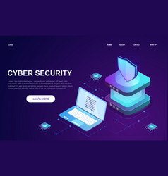 Abstract cyber security concept vector