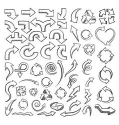arrows drawn collection vector image