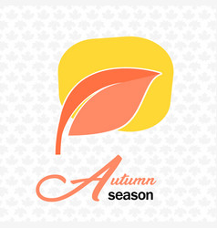 autumn season pink leave maple background i vector image