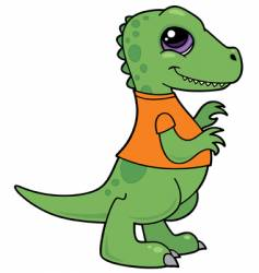 baby dinosaur character vector image
