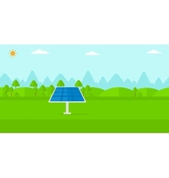 Background of mountains with solar panel vector