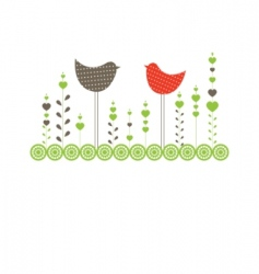 Background with birds vector illustration vector
