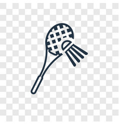 badminton concept linear icon isolated on vector image