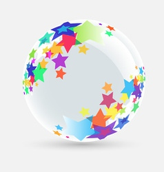 ball with stars vector image