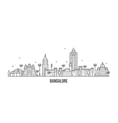 bangalore skyline karnataka india city line vector image