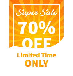 banner super sale 70 off image vector image