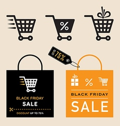 Black friday emblems vector image