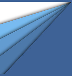 blue paper overlapping abstract background vector image