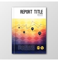 Business design template Cover brochure book vector
