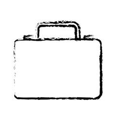 business suitcase portfolio document sketch vector image