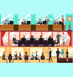 businesspeople in an office vector image