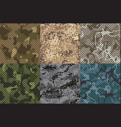camouflage khaki texture army fabric seamless vector image
