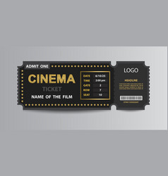Cinema admission ticket stub template vector