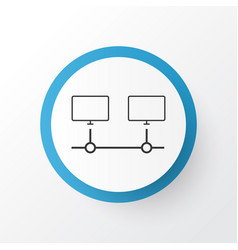 Computer connection icon symbol premium quality vector