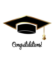 congratulations graduates graduation day cap vector image