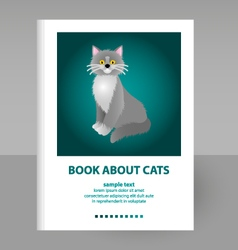 Cover book about cats vector