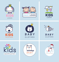 creative signs symbols and logo set brand vector image