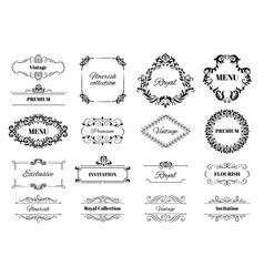 decoration ornament frame vintage calligraphic vector image