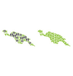 Demographics and plantation new guinea countries vector