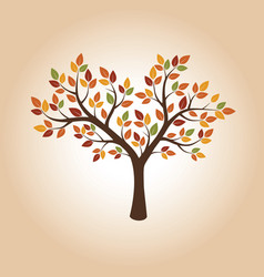 Drawing of autumn tree vector