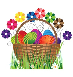 Eggs in the basket vector image