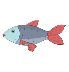 Fish hand drawn doodle vector