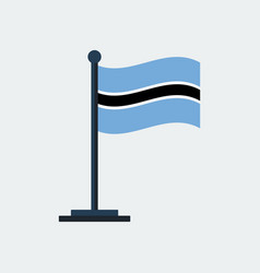 flag of botswanaflag stand vector image