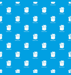 folding carton pattern seamless blue vector image