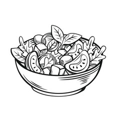 Fresh salad with lettuce vector