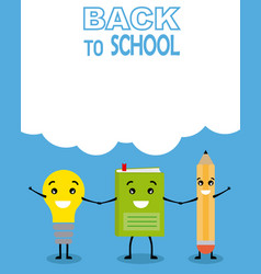 funny card back to school vector image
