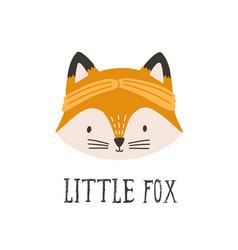 funny face or head fox wearing headband funny vector image