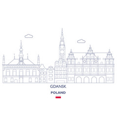 gdansk linear city skyline vector image