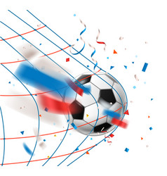 Goal soccer ball in a net world competition vector