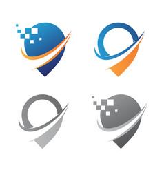 gps technology navigator vector image