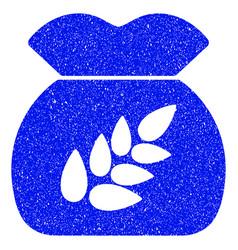 Grain harvest grunge icon vector