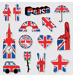 great britain stickers vector image vector image