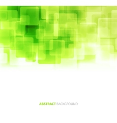 Green shiny squares technical background vector