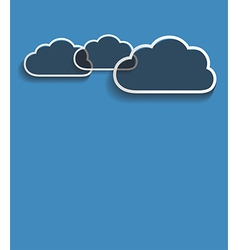 grey clouds vector image