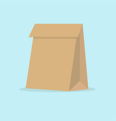 grocery paper bag isolated on vector image