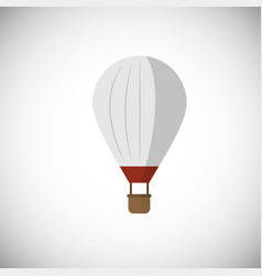 hot air balloon aircraft icon on white background vector image