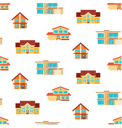 houses seamless repeat pattern vector image