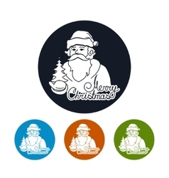 Icon of a Santa Claus vector image