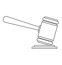 Judge gavel icon outline style vector