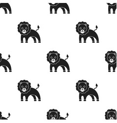 lion black icon for web and mobile vector image