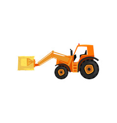 Loader tractor agricultural machinery vector