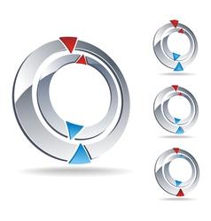 logo compass vector image