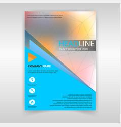 magazine cover vector image